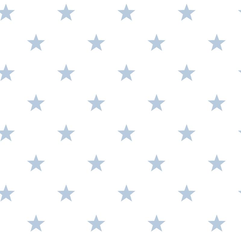 Vliestapete 'Sterne' weiß/hellblau
