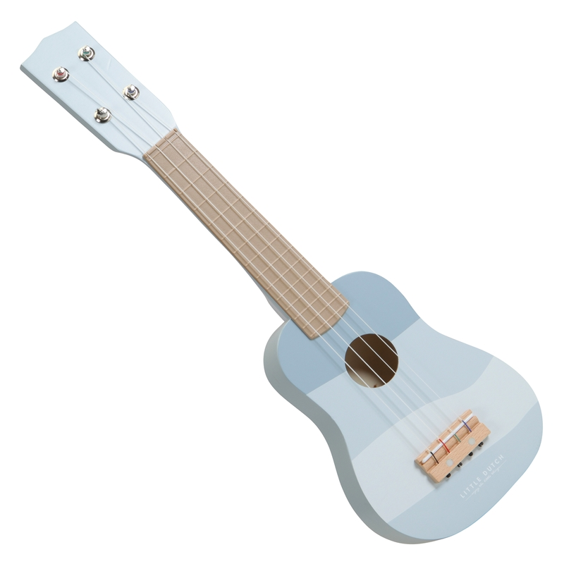 Gitarre aus Holz 'Horizon' blau ab 3 Jahren