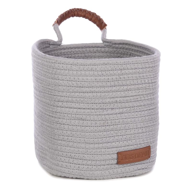 Wandkorb aus Baumwolle 'Ewa' grau 20cm