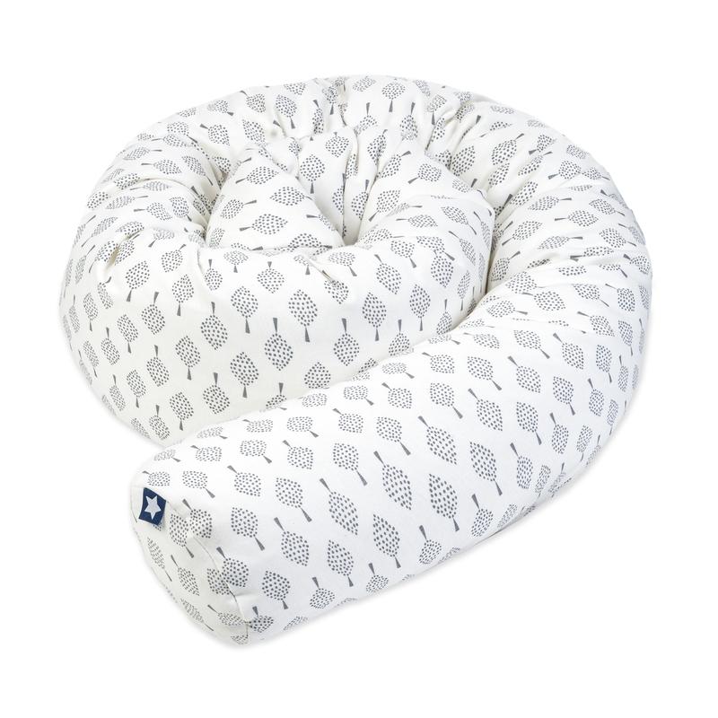 Bettschlange 'Bonsai' weiß/grau ca. 180cm