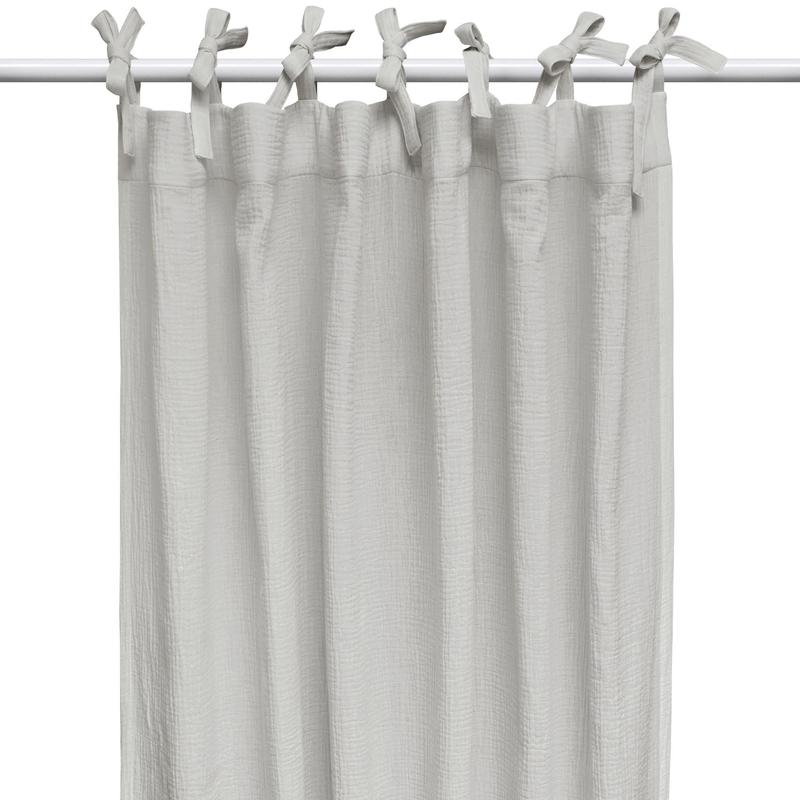 Vorhang Musselin hellgrau H 240cm handmade