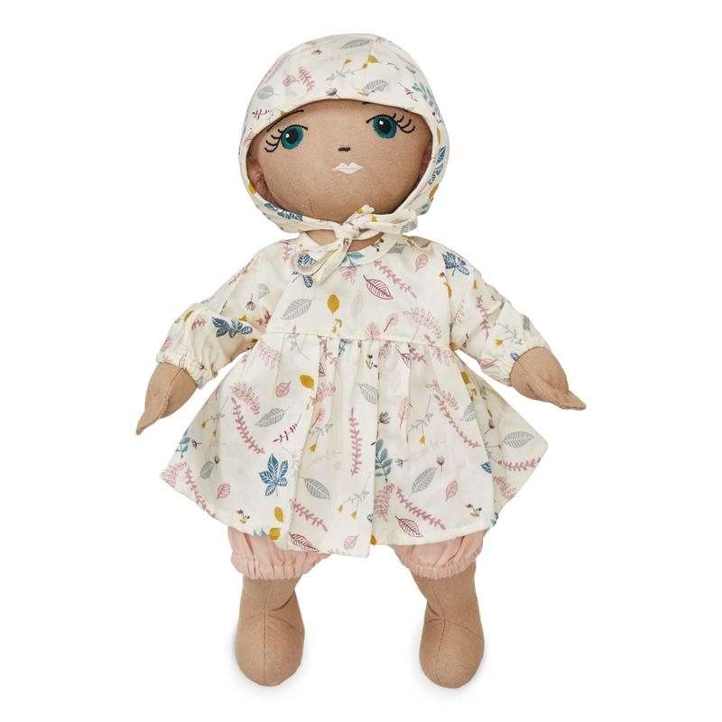 Puppenkleidung 'Blätter' rosa 3-tlg. ab 3 Jahren