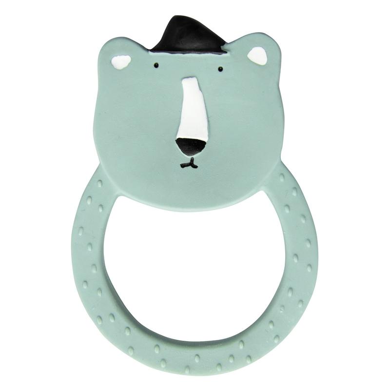 Beißring 'Eisbär' Naturkautschuk mint ca. 12cm
