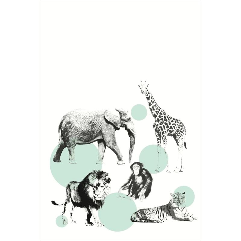 Vlies-Tapetenwandbild 'Safari-Tiere' 186x279cm