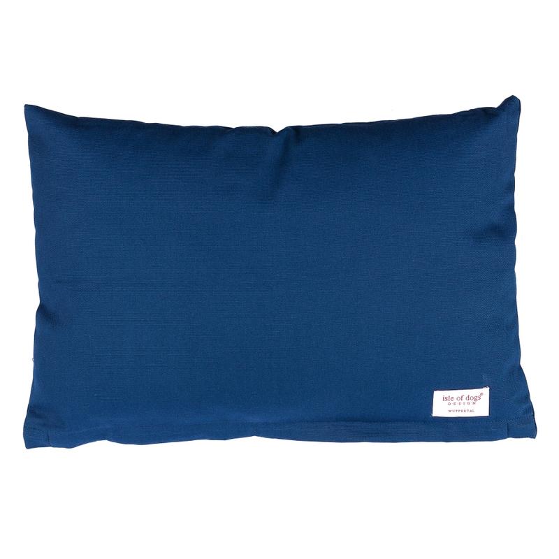 Kissen Canvas dunkelblau ca. 40x60cm
