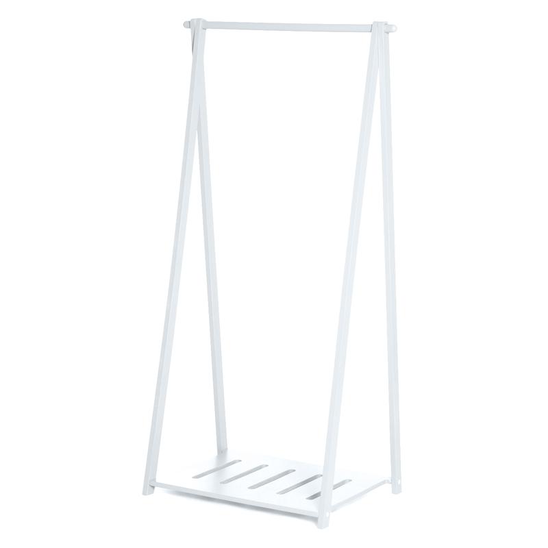 Garderobenständer aus Holz weiß 117cm