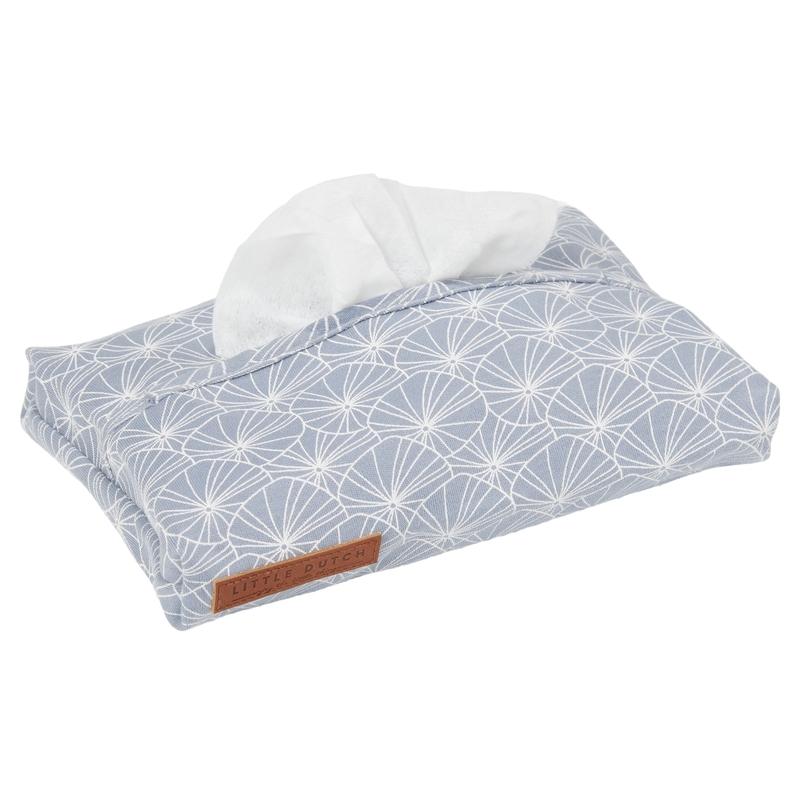 Feuchttücherbezug 'Lily Leaves' Jersey blau