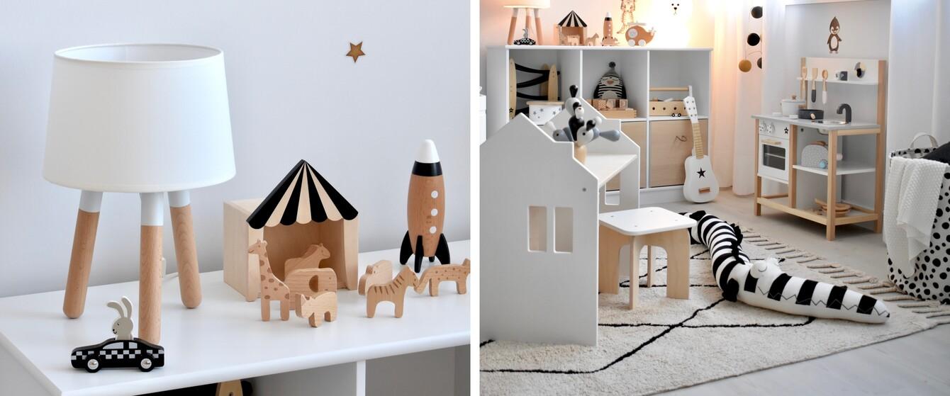 Kinderzimmer in Schwarz/Weiß