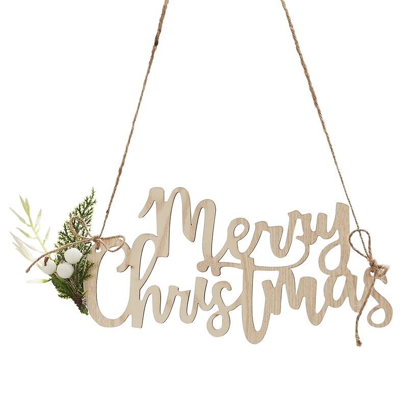 Weihnachtsdeko 'Merry Christmas' 4er Set