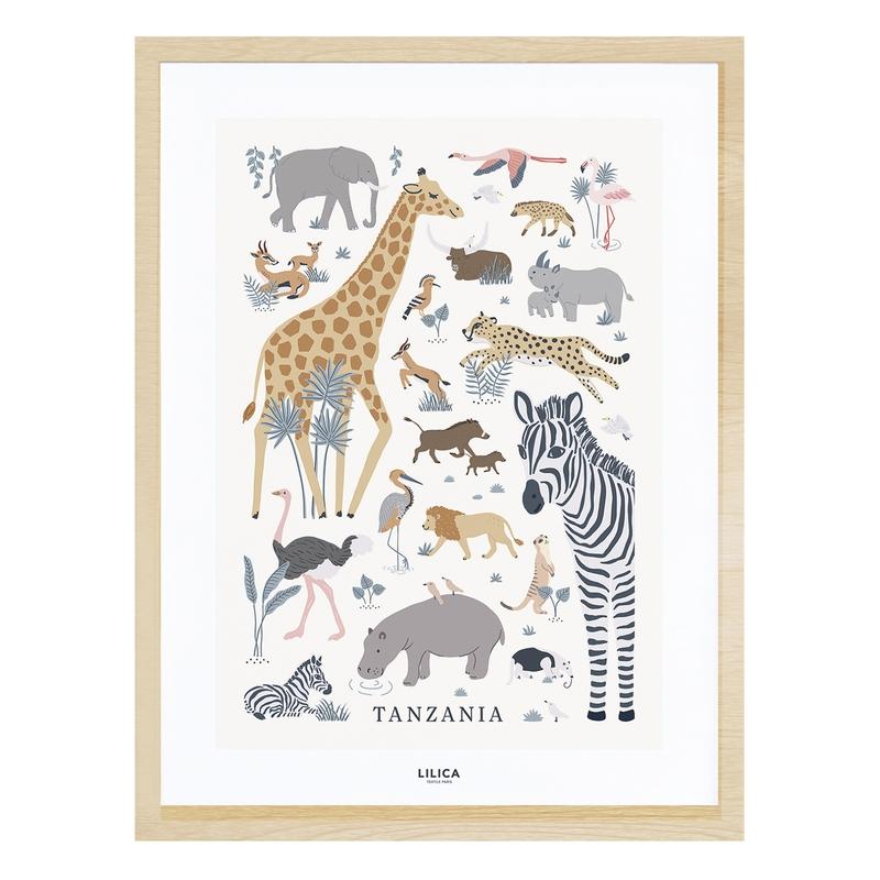 Bild 'Tanzania' Safaritiere natur 30x40cm