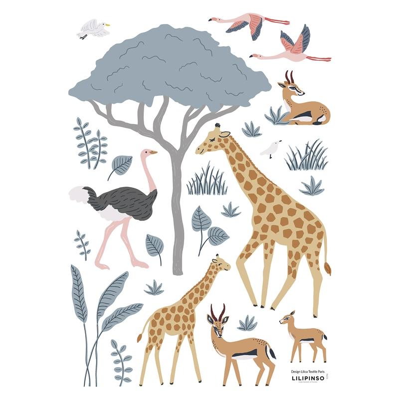 Wandsticker 'Tanzania 1' Safaritiere