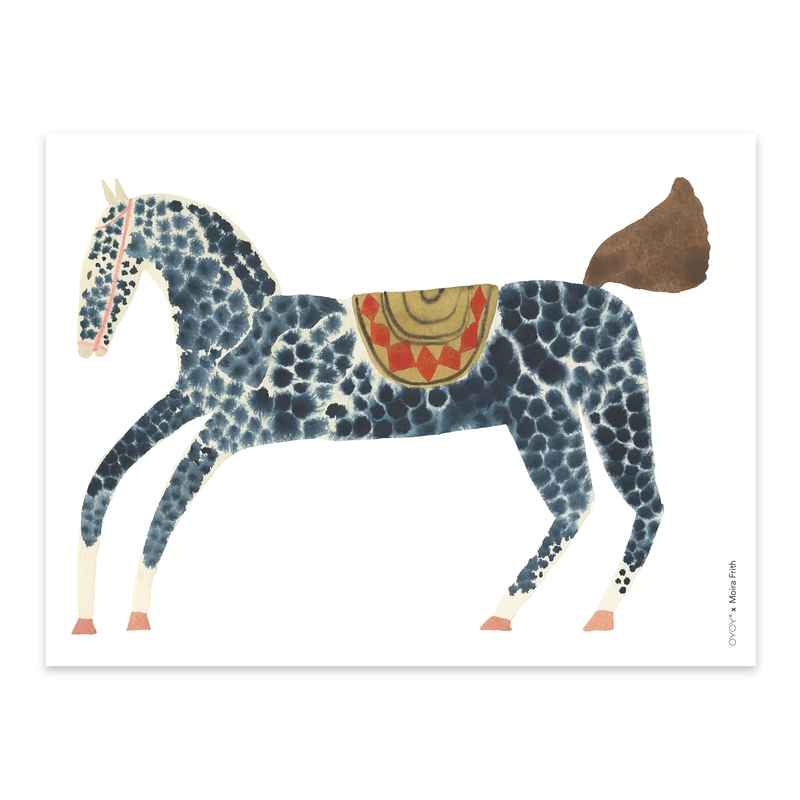 Poster 'Pony Pelle' blau 40x30cm