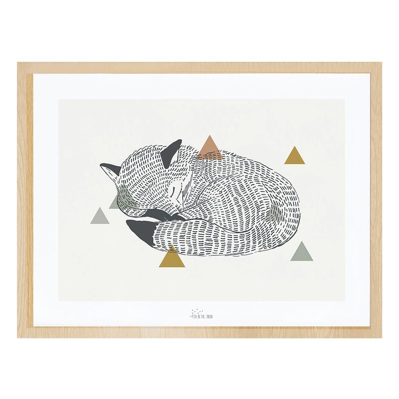 Bild 'Fuchs' schwarz/natur 40x30cm