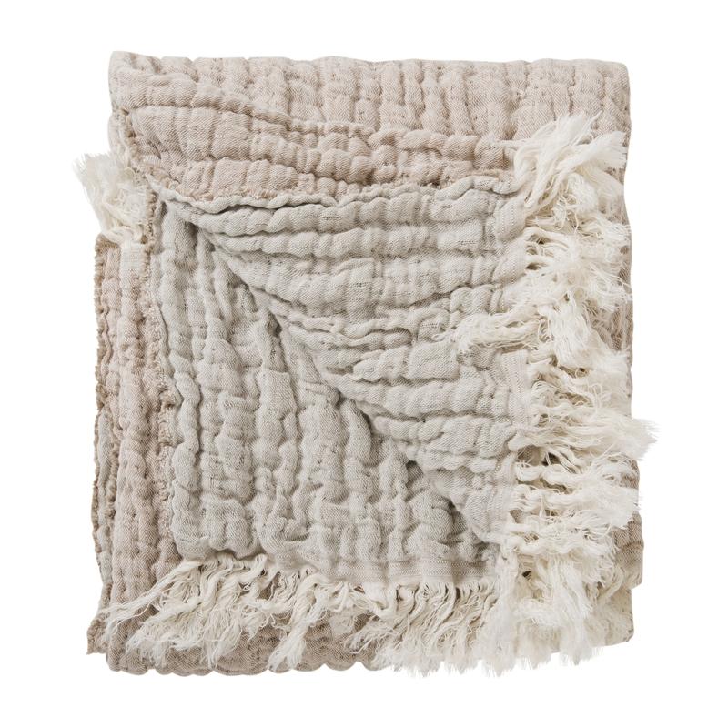 Kinderdecke aus Leinen & Baumwolle nude