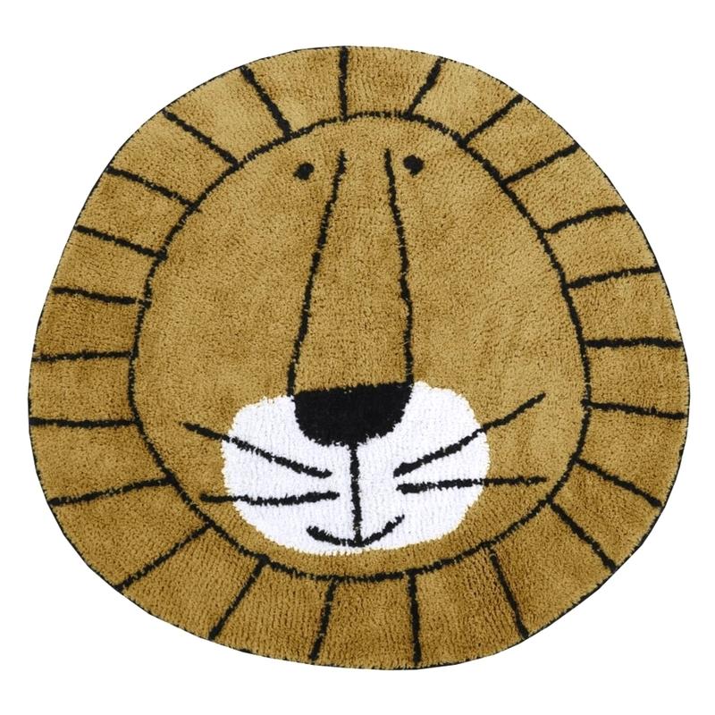 Teppich 'Löwe' karamell ca. 100cm waschbar