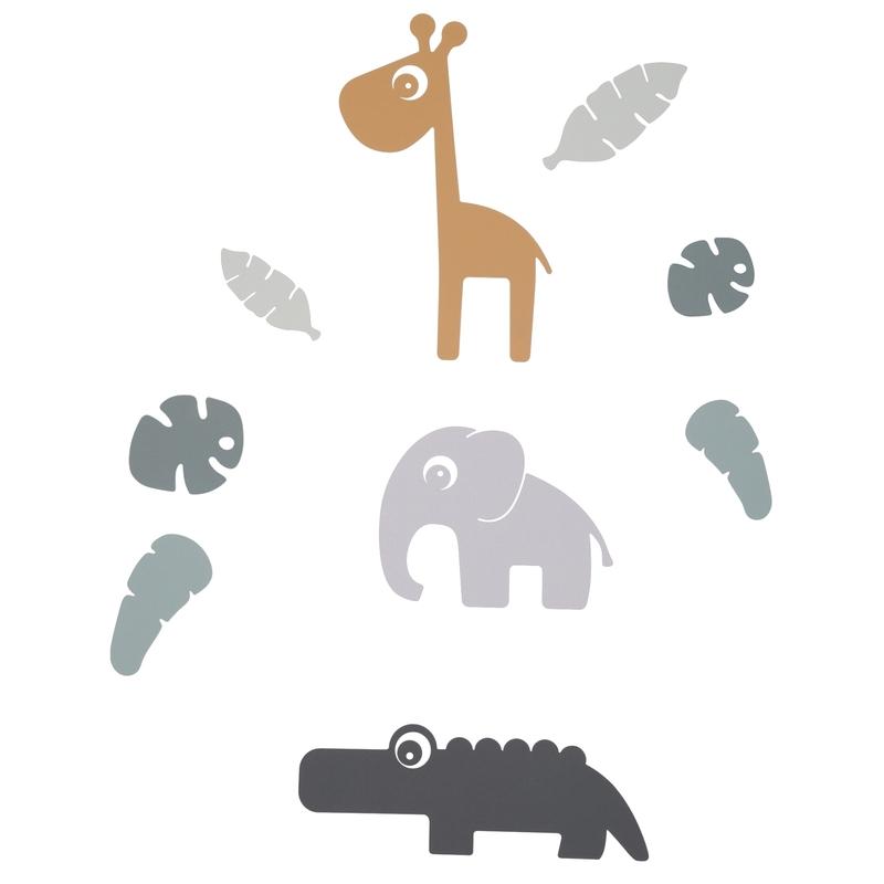 Wandsticker mit Tieren 'Tiny Tropics'