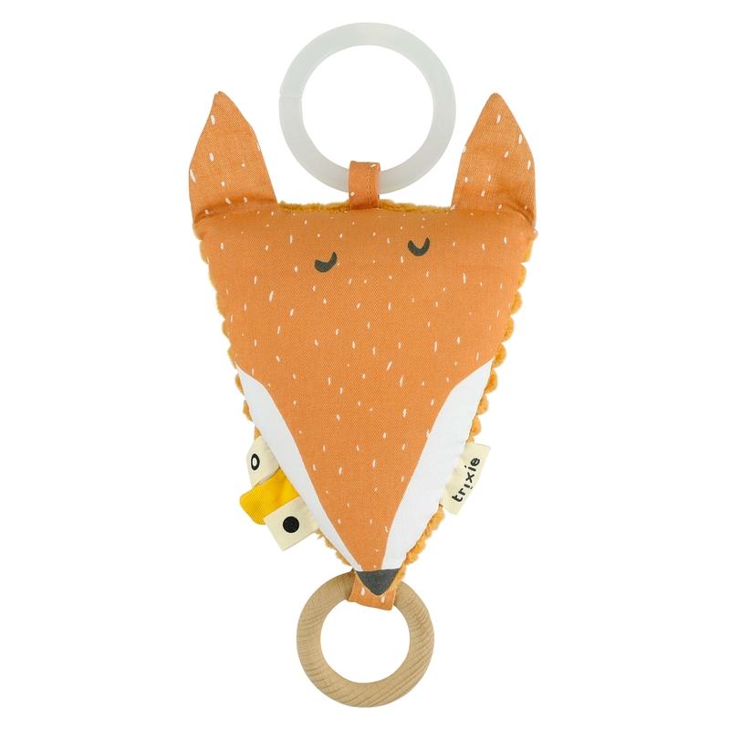 Spieluhr mit Spiegel 'Fuchs' orange ca. 14cm