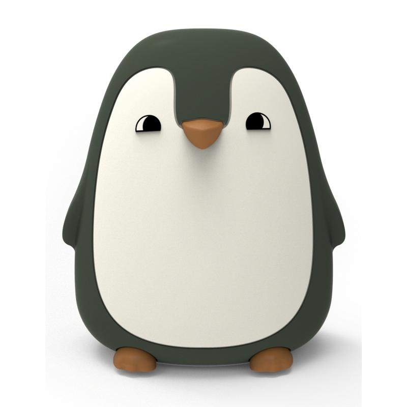 Nachtlicht 'Pinguin' Silikon khaki ca. 13cm