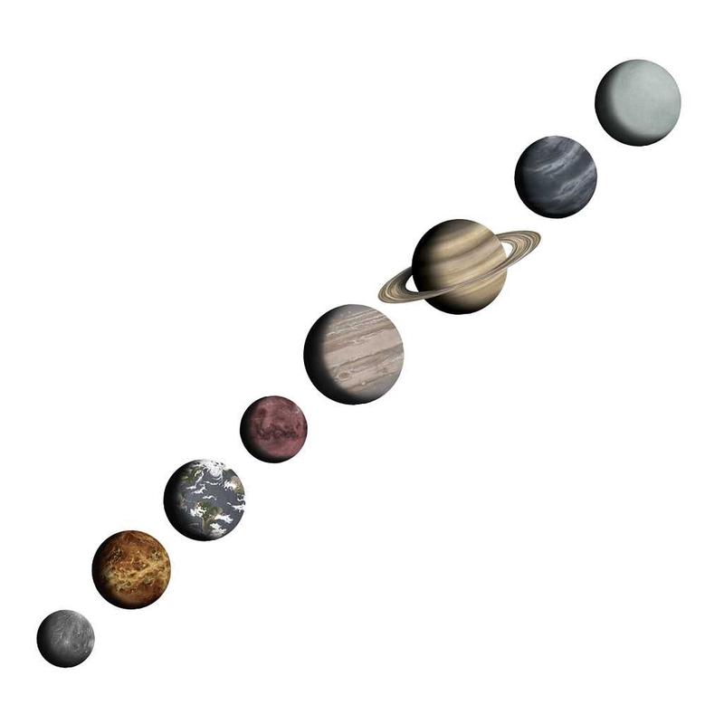 Wandsticker XL-Set 'Sonnensystem' handgemalt