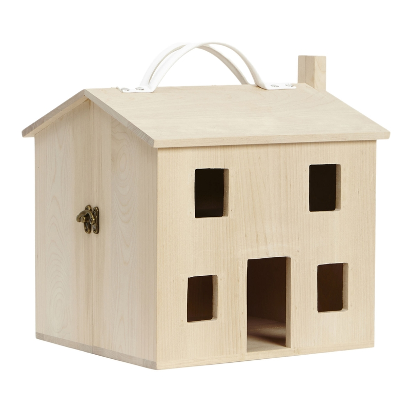 Puppenhaus aus Naturholz 'Holdie' ab 3 Jahren
