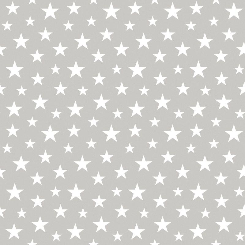 Vliestapete 'Sterne' grau/weiß