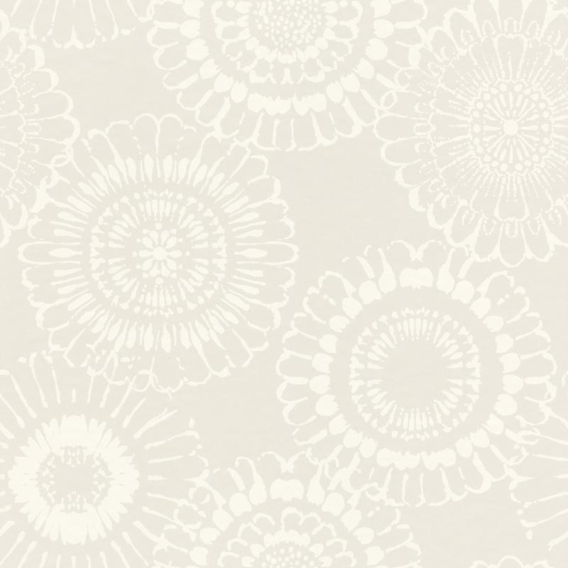 Vliestapete 'Mandala Blüte' perlmutt