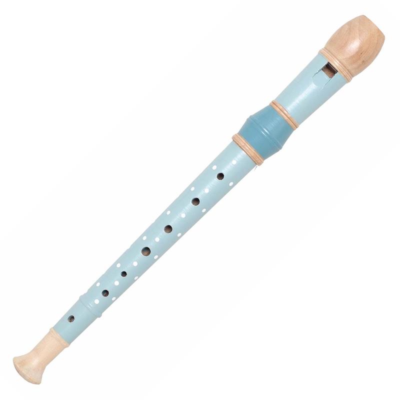 Flöte Holz Punkte blau ab 3 Jahren