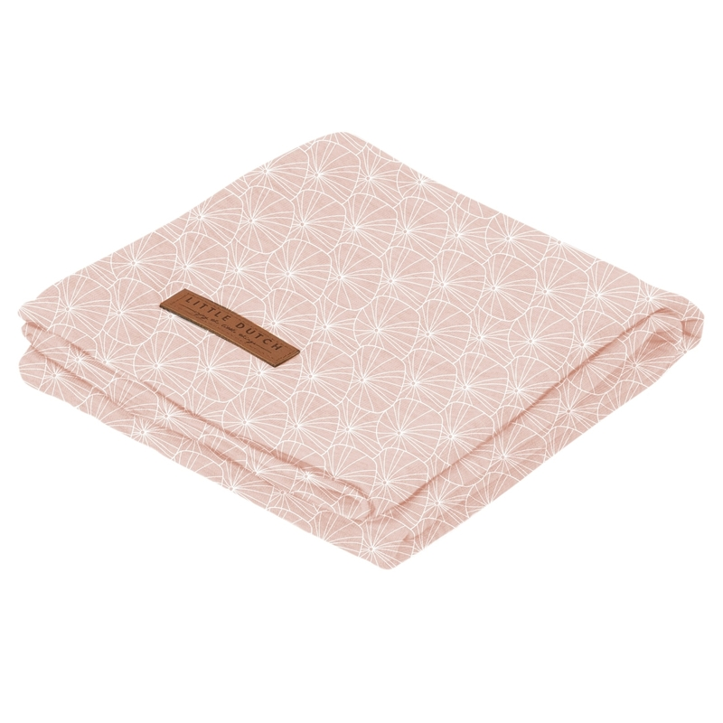 Pucktuch 'Lily Leaves' Jersey rosa 120x120cm