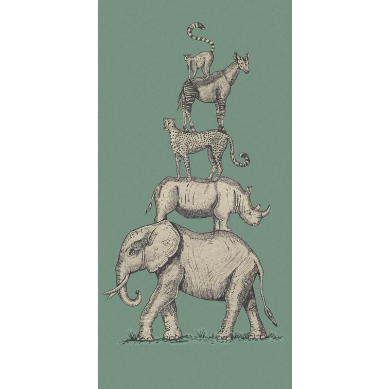 Fototapete 'Mini Me' Safari grün 139x280cm