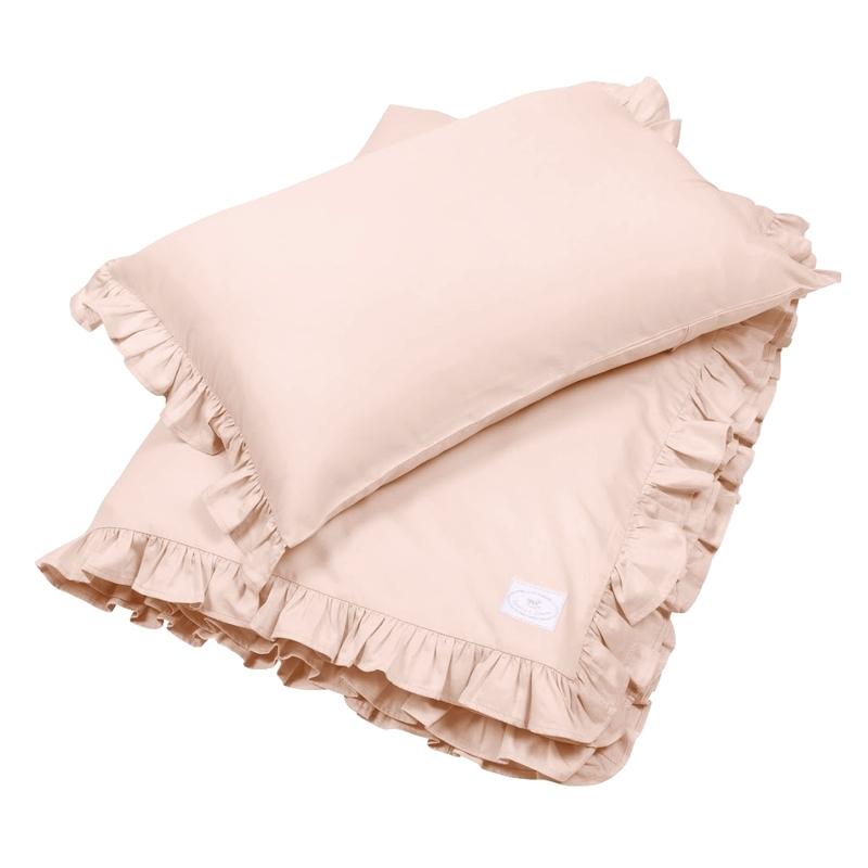 Bettwäsche mit Rüschen nude 100x135cm