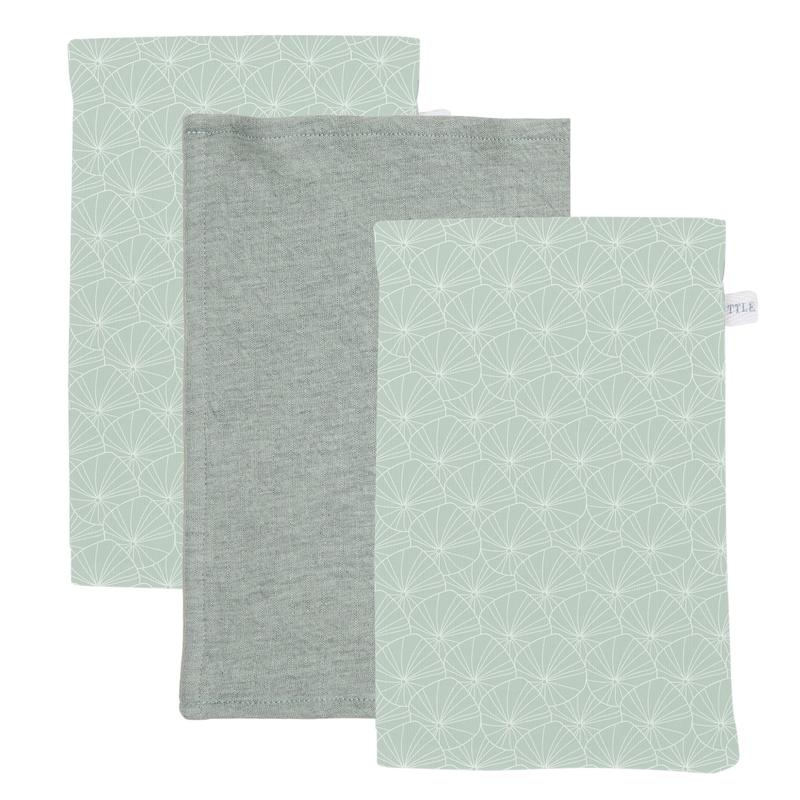 Waschlappen 'Lily Leaves' mint 3er Set