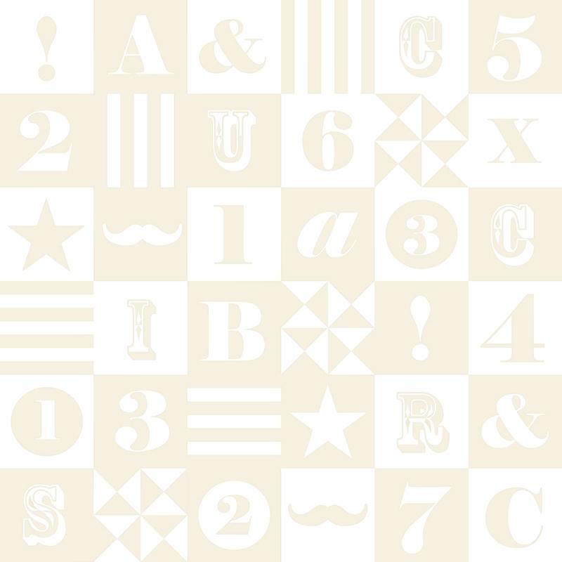 Vliestapete 'ABC-Patchwork' beige
