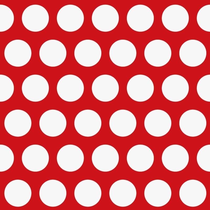Vliestapete 'XL Punkte' rot/weiß