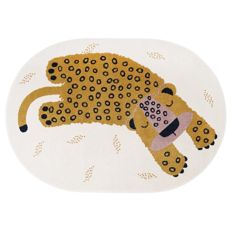 Teppich 'Leopard Kleo' creme/gelb 120x170cm