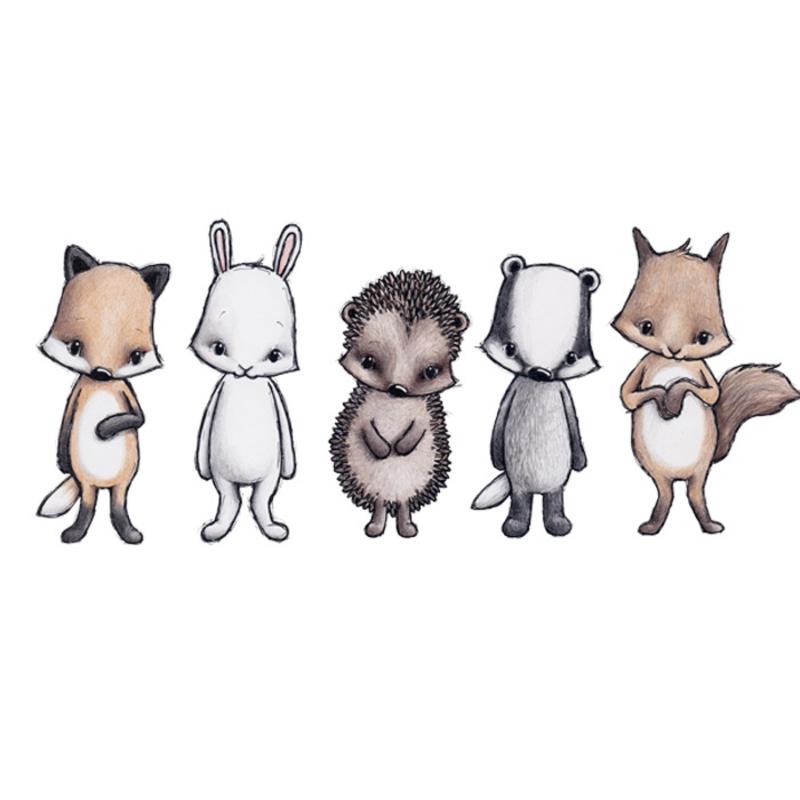 Wandsticker 'Forest Friends' handgezeichnet