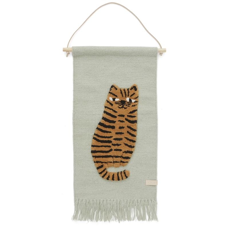 Wandteppich 'Tiger' softmint/camel