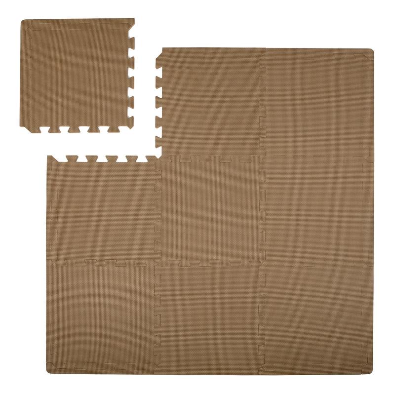 Puzzlematte Schaumstoff braun 100x100cm