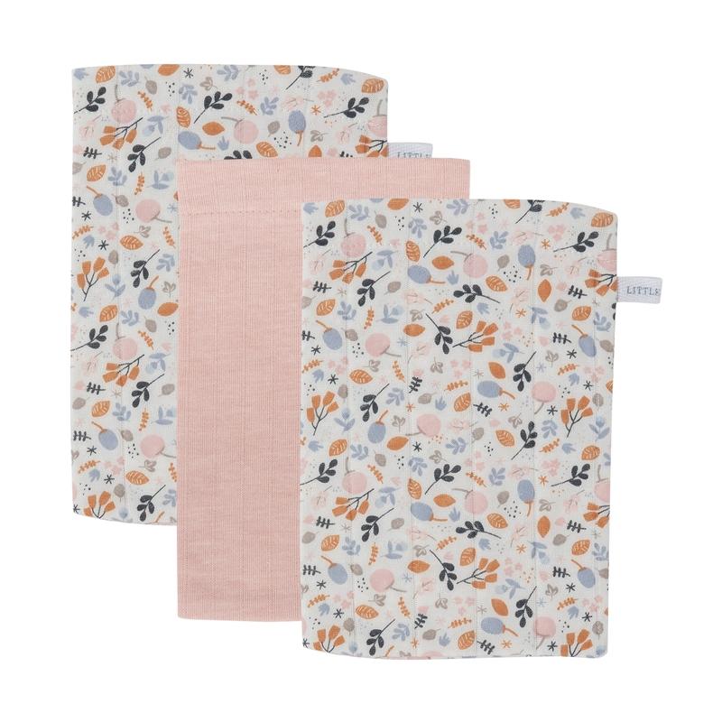 Waschlappen 'Spring Flowers' rosa 3er Set