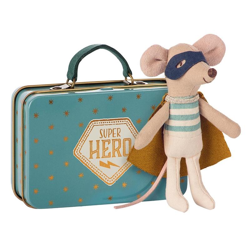 Maus Superheld im Koffer 10cm (Micro)