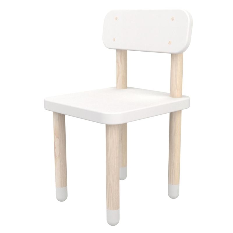 Play Stuhl weiß MDF/Esche massiv