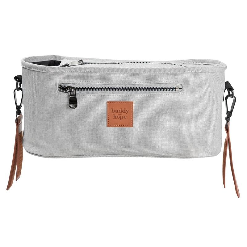 Tasche für den Kinderwagen-Griff hellgrau