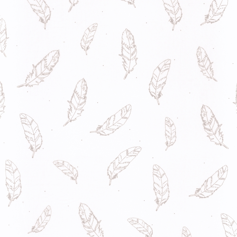 Stoff Federn weiß/silber transparent H 296cm
