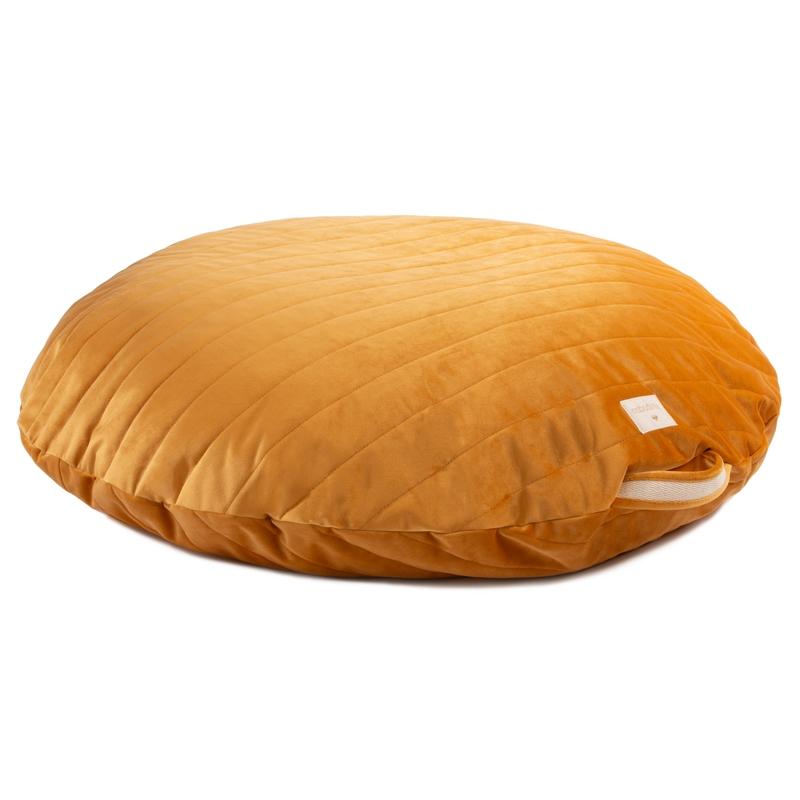 Sitzkissen 'Sahara' Samt senfgelb ca. 90cm
