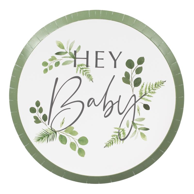 Pappteller 'Botanical Babyparty' 8 St.