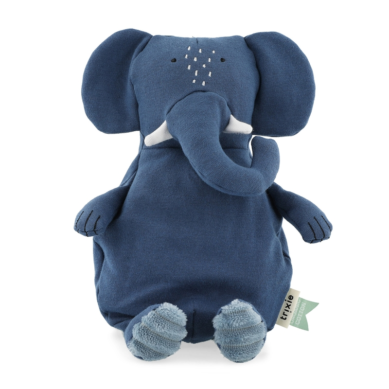 Bio Kuscheltier 'Elefant' blau ca. 26cm