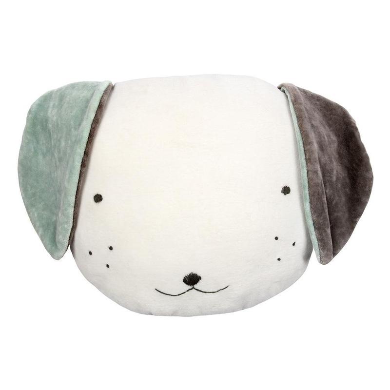 Kissen 'Hund' aus Samt creme ca. 34cm