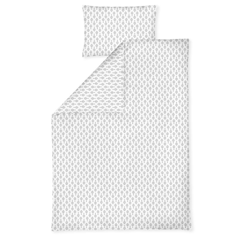 Bettwäsche 'Bonsai' weiß/grau ca. 100x135cm