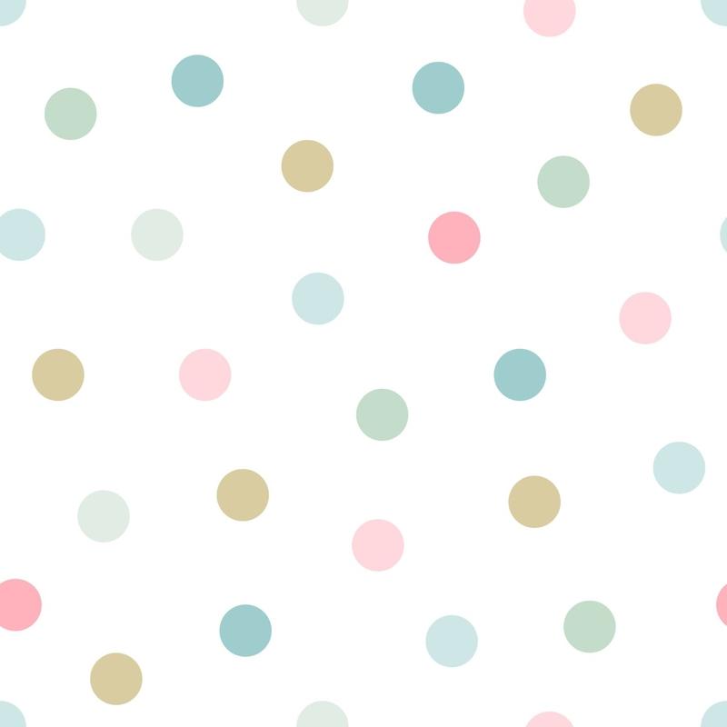 Vliestapete 'Punkte' rosa/mint/ocker