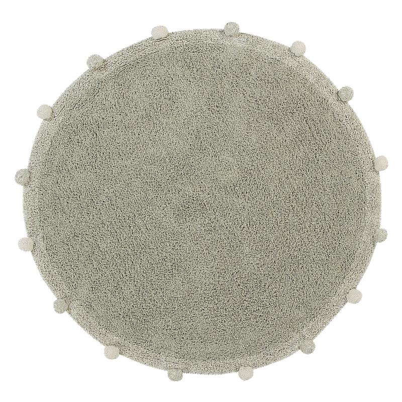 Teppich 'Bubble' rund oliv 120cm waschbar
