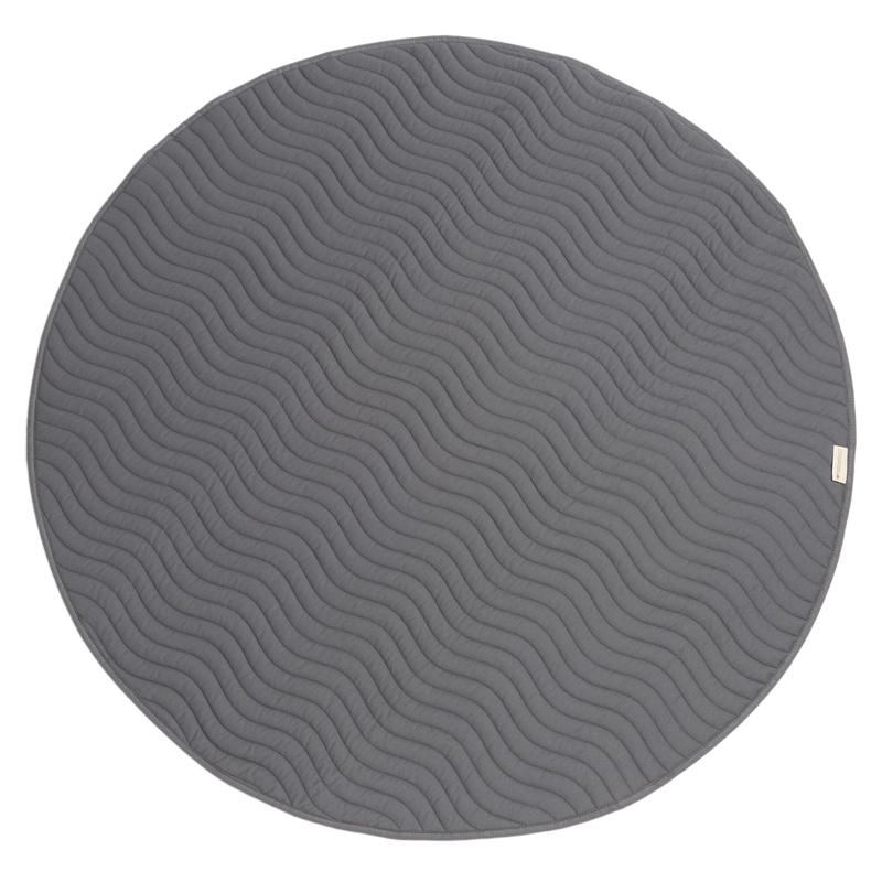Spielmatte rund 'Kiowa' slate grey 105cm